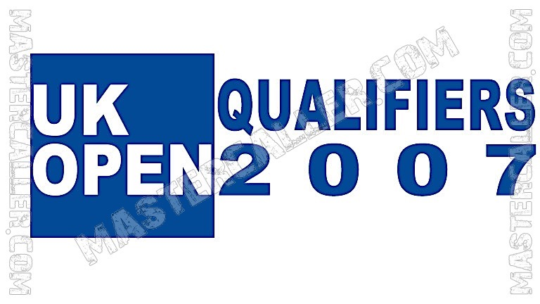 UK Open Qualifiers - 2007 UK QF 3 Irvine Logo