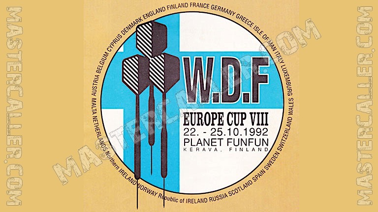 WDF Europe Cup Men Pairs - 1992 Logo