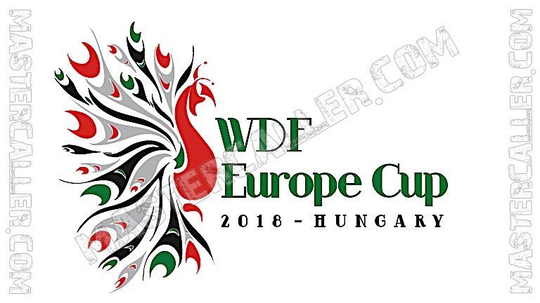 WDF Europe Cup Ladies Teams - 2018 Logo