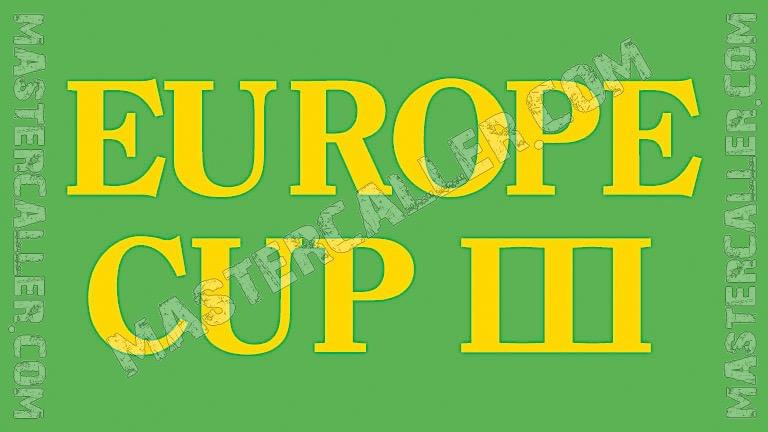 WDF Europe Cup Men Singles - 1982 Logo