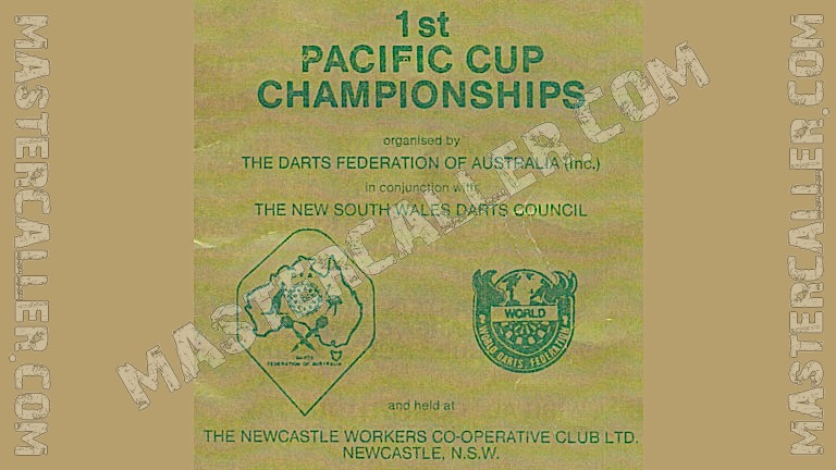 WDF Pacific Cup Mixed Pairs - 1980 Logo