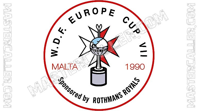 WDF Europe Cup Men Teams - 1990 Logo