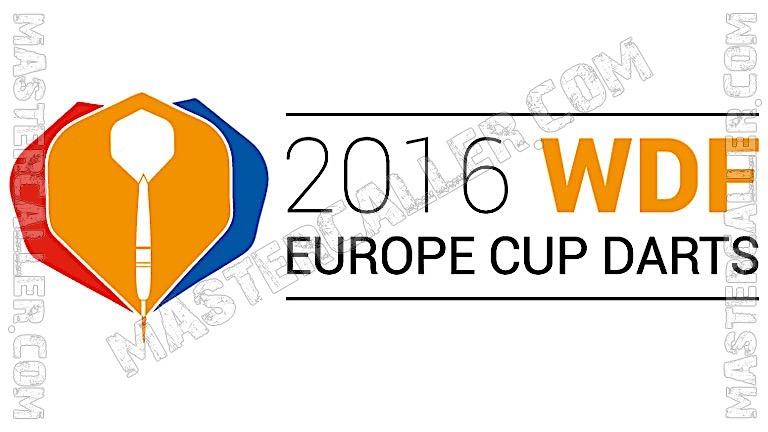 WDF Europe Cup Men Teams - 2016 Logo