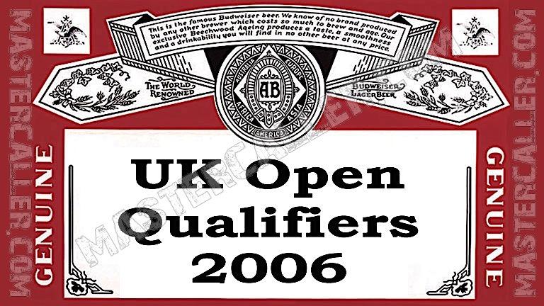 UK Open Qualifiers - 2006 UK QF 8 Sheffield Logo