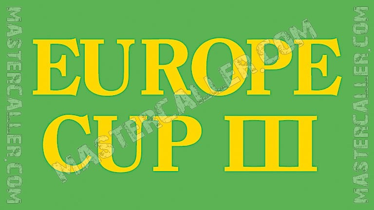 WDF Europe Cup Men Overall - 1982 Logo
